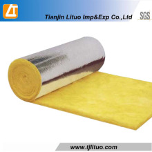 Yellow Color Glass Wool Rolls with Sing Side Aluminium Foil