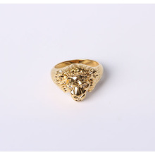Lion Design Modeschmuck Ring aus Messing vergoldet