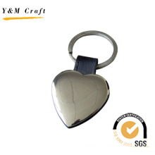 Metal and Leather Tag Keyring with Steaching (Y02096)