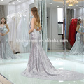 2017 Neueste Frauen Strandkleid Frauen brillante Floral Printed Chiffon Frauen Maxi Kleider
