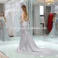 2017 Últimas mulheres vestido de praia Mulheres brilhante Floral Impresso Chiffon mulheres Maxi Vestidos