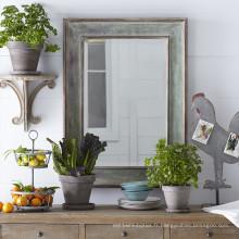 Style rustique de miroir encadré de finition affligée de vente chaude de style pour la décoration à la maison
