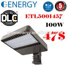 UL ETL DLC a approuvé la lumière de boîte à chaussures de 100w LED avec l'adaptation d'éclairage de boîte à chaussures de capteur de cellule photoélectrique