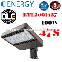 UL ETL DLC approved 100w LED shoebox light with Photocell sensor shoebox lighting retrofit