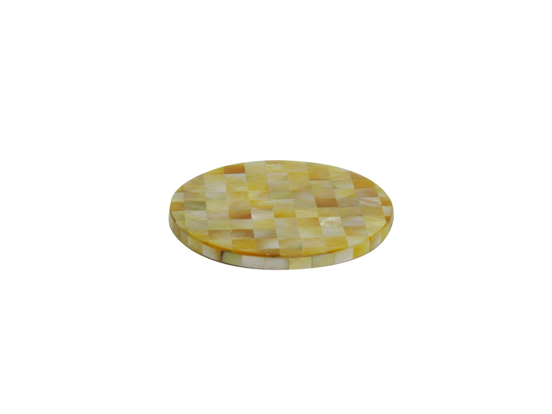 golden mother of pearl cup coaster