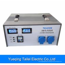 Stabilisateur de tension SVC-5000 avec disjoncteur, affichage à cristaux liquides