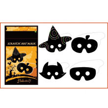 animal halloween for kids DIY scratch card mask
