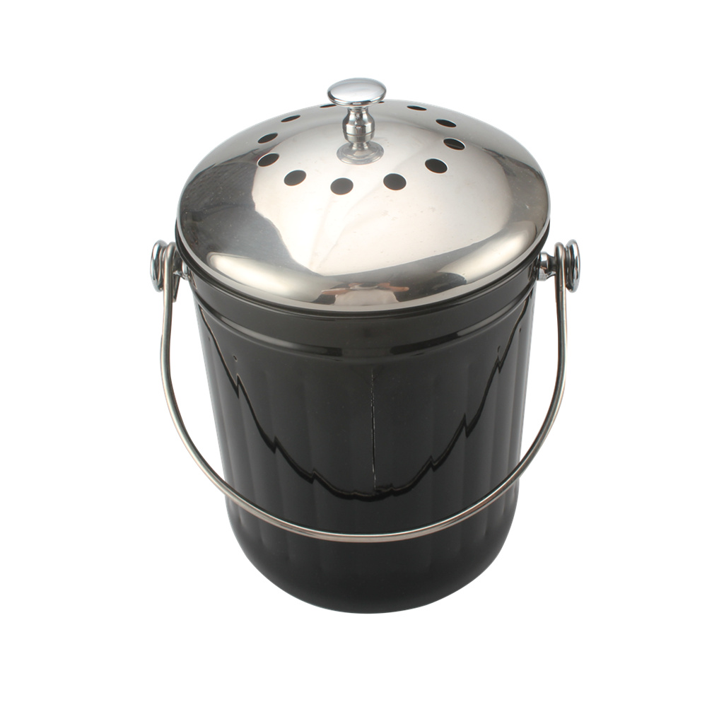 1gallon Black Compost Pail