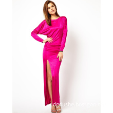 Ladies Casual Long Sleeve Sexy Split Prom Dress (JK11108)
