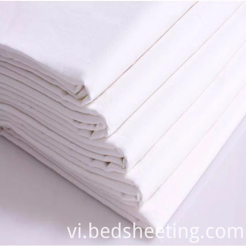 White Cotton Sateen Fabric For Hotel Linen