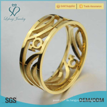 Edelstahl Gold Homosexuell Ring, Homosexuell Engagement Ringe