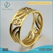 Anillo gay de oro de acero inoxidable, anillos de compromiso gay