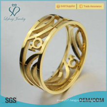Stainless steel gold gay ring,gay commitment rings