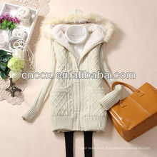 Camisola espessada do casaco de lã da pele das senhoras 12STC0649