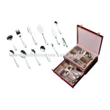 Hot sell 72-piece stainless steel cutlery set, OEM orders are welcome