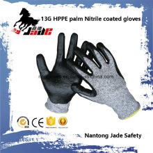 13G Luvas de trabalho de segurança resistentes ao corte com nitrila Nível 3 e 5