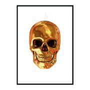 Astraware Golden Skull art display frame