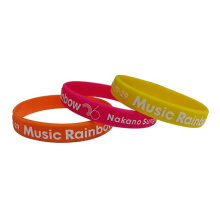 Cheap custom cool popular printable silicone wristbands
