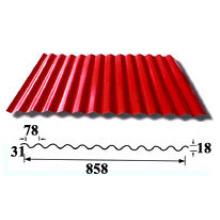 Feuilles de toit ondulé / feuilles de toiture en aluminium (HY-R858)