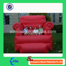 Modelo de las réplicas interesante comercial Sofá inflable, silla inflable, trono inflable