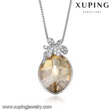 43806-fashion europe jewelry Cristaux de Swarovski, grand collier en pierre jaune