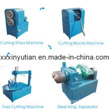 Newest Waste Tire Cutting Machine for Pyrolysis (QKF1150, QT380, QK200)