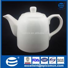 high-quality super white fine porcelain tea set pot with lid