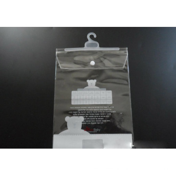 Sac en plastique fait sur commande pour des vêtements (sac de PVC)