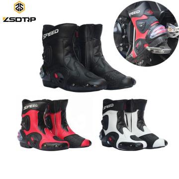Hommes Moto Botte Vélo Chaussures D'équitation En Cuir Chaussures De Course Motocross Off-Road Moto Homme Botte Zapatos Hombre