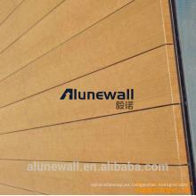 3mm 4mm 5mm de acabado de madera incombustible / panel compuesto de aluminio Grantie grano de fábrica