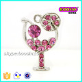 Fashion Wholesale Custom Made Crystal Flower Shape Accent Necklace Pendant