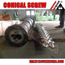 Cylindre à vis conique de résistance à l'usure d'extrusion de profilé upvc