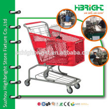 100L plastic shopping trolley Suzhou Highbright manufacture