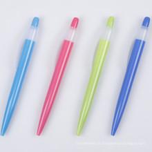 Прозрачный красочные бочки Пластиковые Шариковая ручка для продвижения ТС-6007
