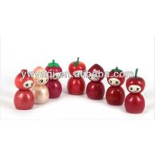 Promoción lindo brillo de labios con tapa forma de fruta