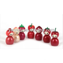 Promoção giro Lip Gloss com tampa de forma de fruta