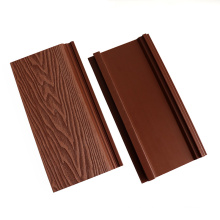 Waterproof Exterior WPC Wood Wall Cladding 3D Embossed Wood Grain Plastic Composite Wall Panel