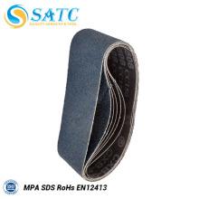 Venda al por mayor la correa lijadora del alúmina del zirconia para el pulido del metal hecho en China