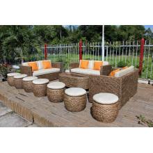 Stunning Design Water Hyacinth Large Sofa Set for Indoor Use Living Room Furniture