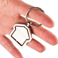 Reliable for Promotional Keychain Sales Center Gift Metal House Shape Rotatable Keychain export to Sri Lanka Wholesale