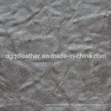 Color clásico de cuero de muebles en relieve (QDL-52073)