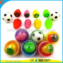 Brinquedos de cápsula plástica de design novo de alta qualidade