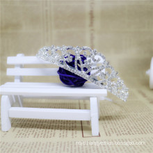 2017 Real Photo Gorgeous Rhinestone Bride Flower Crown Wholesale White Gold