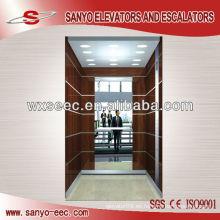 Madera y espejo Deocration cabina de ascensor de pasajeros (TKJ-SEE-CP15)