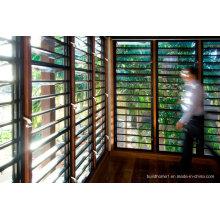 Janela inovadora do novo vidro Louvre