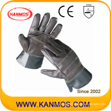 Patched Palm Furniture Cowhide Leather Safety Work Industrial Gloves (31014)