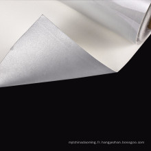 Tissu nylon gris réfléchissant doux pour vêtements