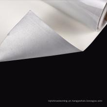 tela de nylon reflexiva macia cinzenta de prata para a roupa