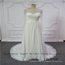Junoesque vestido de noiva longo seleeves