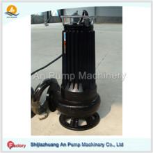Bomba de basura sumergible no atascante eléctrica de acero inoxidable con agitador